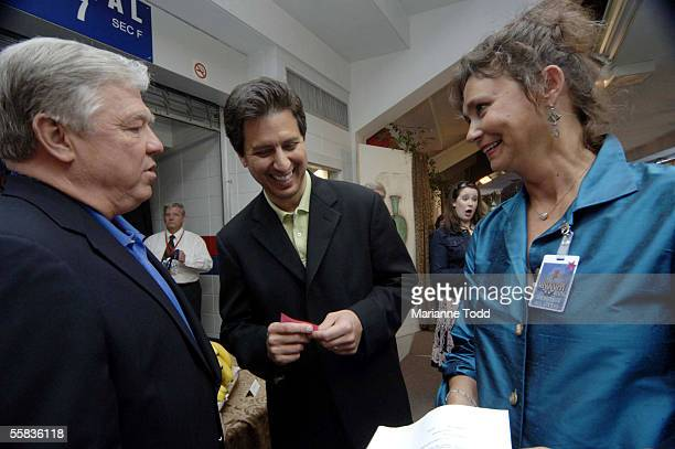 Ray Romano talks with Mississippi Gov Haley Barbour and Jill Connor Browne author of Sweet Potato Queens backstage at Mississippi Rising on October 1...