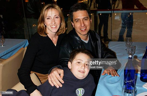 Ray Romano with his wife Anna and his son Gregory during the party at the Rockefeller Center ice rink for the World Premiere of Twentieth Century...