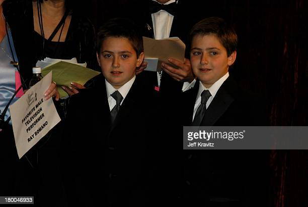 Ray Romano's sons Matthew and Gregory during The 29th Annual People's Choice Awards at Pasadena Civic Center in Pasadena CA United States