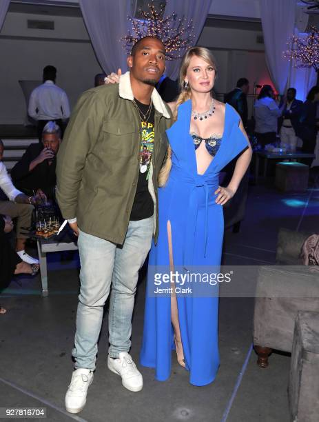 Ray Romulus and Marina Acton attend the release of Marina Acton's new single Fantasize at Boulevard3 on March 5 2018 in Hollywood California