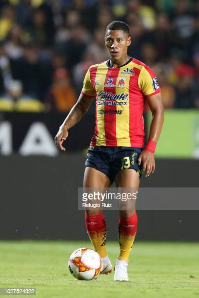 Ray Sandoval of Morelia drives the ball during a Group H match between Morelia and Chivas as part of Copa MX Apertura 2018 at Morelos Stadium on...