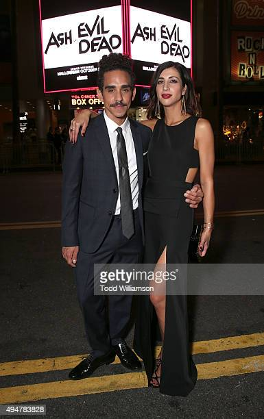 Ray Santiago and Dana DeLorenzo attend the Premiere Of STARZ's Ash vs Evil Dead at TCL Chinese Theatre on October 28 2015 in Hollywood California