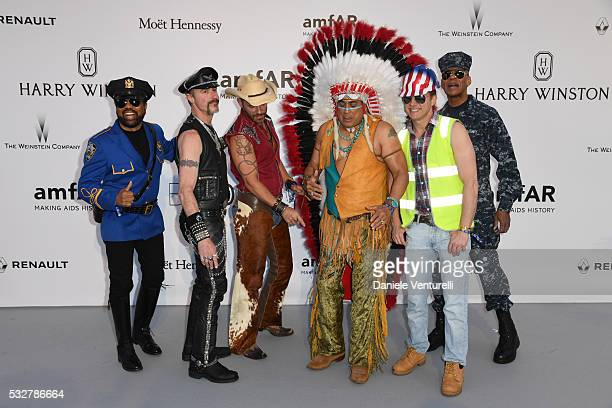 Ray Simpson Eric Anzalone Jim Newman Felipe Rose Bill Whitefield and Alex Briley attend the amfAR's 23rd Cinema Against AIDS Gala at Hotel du...