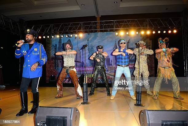 Ray Simpson Jim Newman Eric Anzalone Bill Whitefield Alex Briley and Felipe Rose of The Village People perfoms at the 13th Annual Footy's Bubbles...