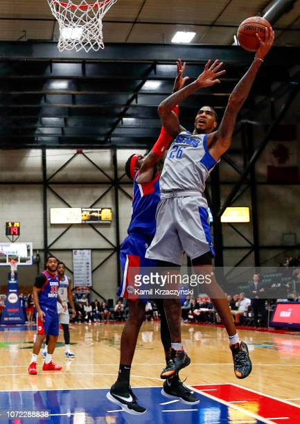 Ray Spalding of the Texas Legends goes to the basket against the Grand Rapids Drive on December 12 2018 at DeltaPlex Arena in Grand Rapids Michigan...