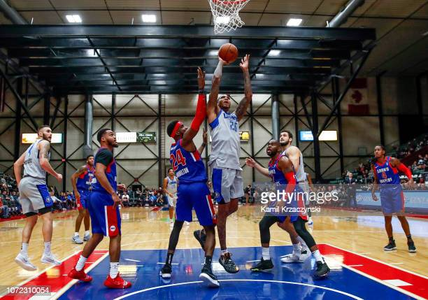 Ray Spalding of the Texas Legends shoots the ball against the Grand Rapids Drive on December 12 2018 at DeltaPlex Arena in Grand Rapids Michigan NOTE...
