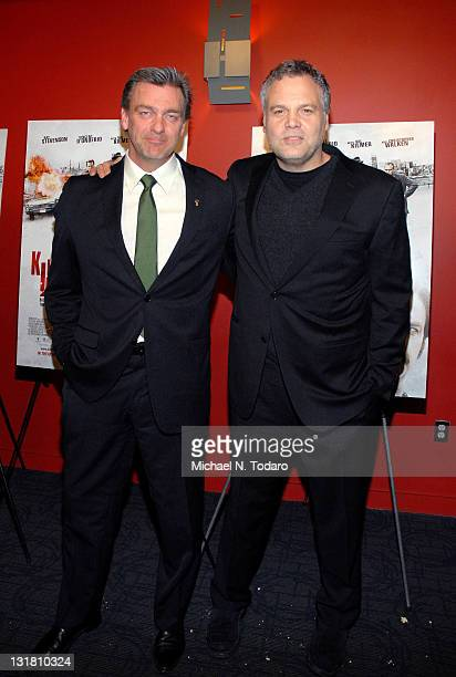 Ray Stevenson and Vincent D'Onofrio attend the premiere of 'Kill the Irishman' at Landmark's Sunshine Cinema on March 7 2011 in New York City