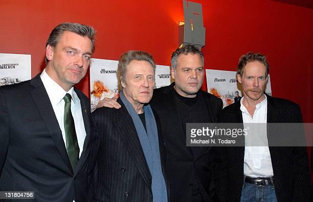 Ray Stevenson Christopher Walken Vincent D'Onofrio and Jonathan Hensleigh attend the premiere of 'Kill the Irishman' at Landmark's Sunshine Cinema on...