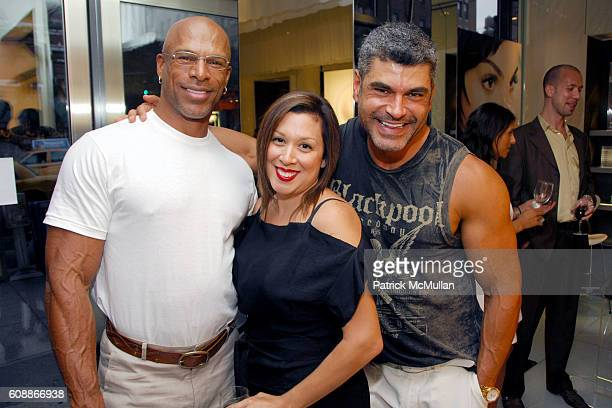 Ray Stewart Jennifer Martin and Michael Ruiz attend LANCOME party for TAYLOR CHANGBABAIAN's new book ASIAN FACES at Lancome Boutique on August 8 2007...