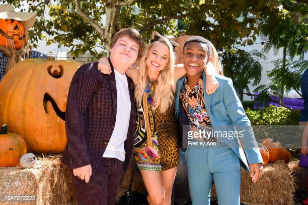 Ray Taylor Madison Iseman and Caleel Harris attend Columbia Pictures and Sony Pictures Animation's Goosebumps 2 Haunted Halloween special screening...