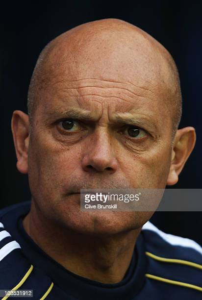 Ray Wilkins assistant manager of Chelsea looks on prior to the Barclays Premier League match between Wigan Athletic and Chelsea at DW Stadium on...