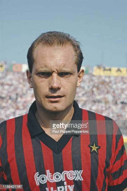 Ray Wilkins , midfielder with A C Milan, pictured on the pitch prior to playing in the Serie A match between Bari and A C Milan in Bari, Italy on 8th...