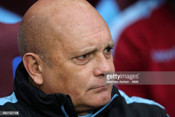 Ray Wilkins the Assistant Manager of Aston Villa during the Barclays Premier League match between Aston Villa and Swansea City at Villa Park on...