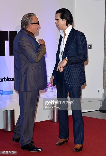 """Ray Winstone and Nick Cave attend the """"20,000 Days on Earth"""" screening at Barbican Centre on September 17, 2014 in London, England."""