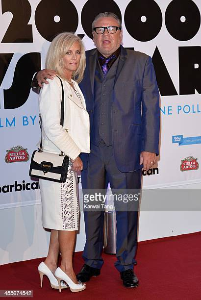 """Ray Winstone and wife Elaine attend the """"20,000 Days on Earth"""" screening at Barbican Centre on September 17, 2014 in London, England."""