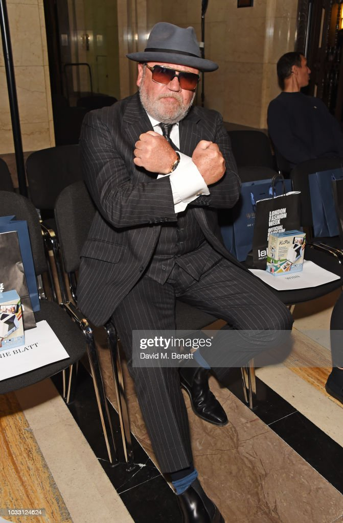 Ray Winstone attends the Pam Hogg front row during London Fashion Week September 2018 at The Freemason's Hall on September 14, 2018 in London, England.