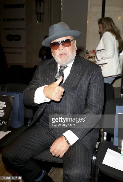 Ray Winstone attends the Pam Hogg Show during London Fashion Week September 2018 at Freemasons Hall on September 14 2018 in London England