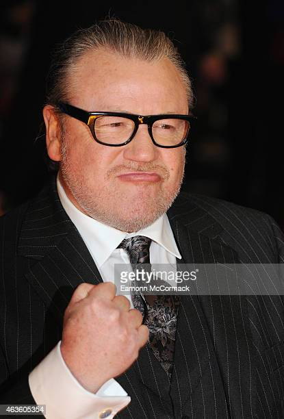 """Ray Winstone attends the World Premiere of """"The Gunman"""" at BFI Southbank on February 16, 2015 in London, England."""