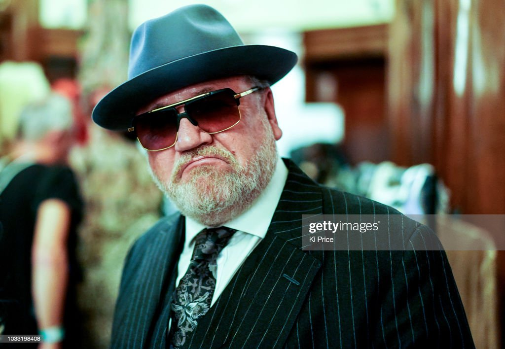 Ray Winstone backstage ahead of the Pam Hogg Show during London Fashion Week September 2018 at Freemasons Hall on September 14, 2018 in London, England.