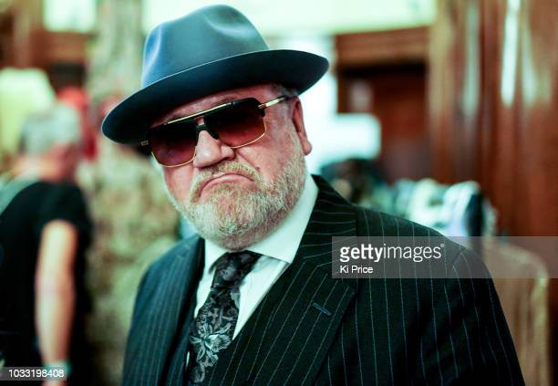 Ray Winstone backstage ahead of the Pam Hogg Show during London Fashion Week September 2018 at Freemasons Hall on September 14 2018 in London England