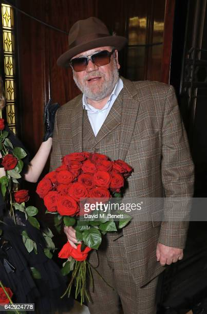 Ray Winstone poses backstage ahead of the Pam Hogg show during the London Fashion Week February 2017 collections on February 19 2017 in London England
