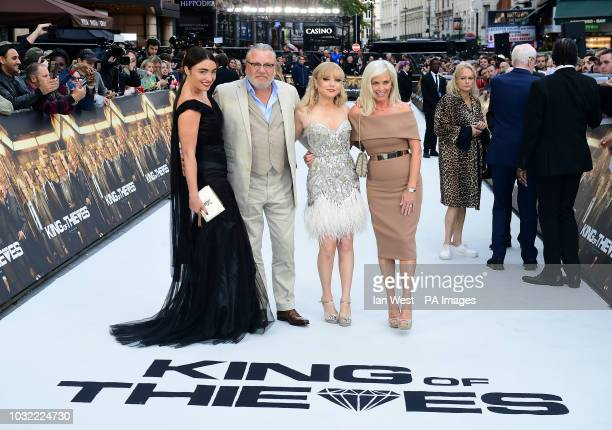 Ray Winstone with wife Elaine Winstone and daughters Lois Winstone and Ellie Rae Winstone arriving for the King of Thieves World Premiere held at Vue...