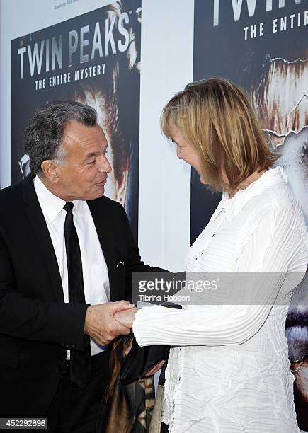 Ray Wise and Catherine E Coulson attend the 'Twin Peaks' BluRay/DVD release party and screening at the Vista Theatre on July 16 2014 in Los Angeles...