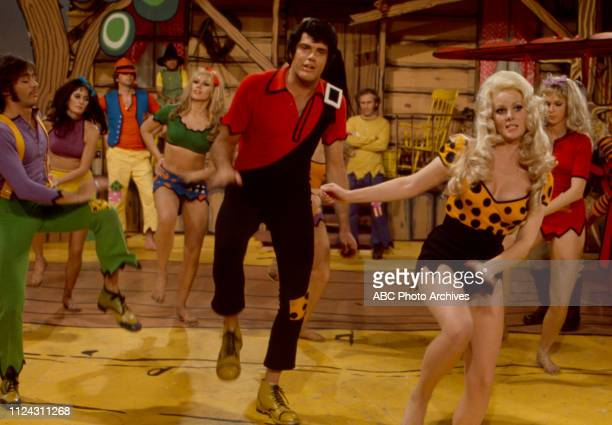 Ray Young, Nancee Parkinson, cast performing in the Walt Disney Television via Getty Images tv movie 'Li'l Abner'.