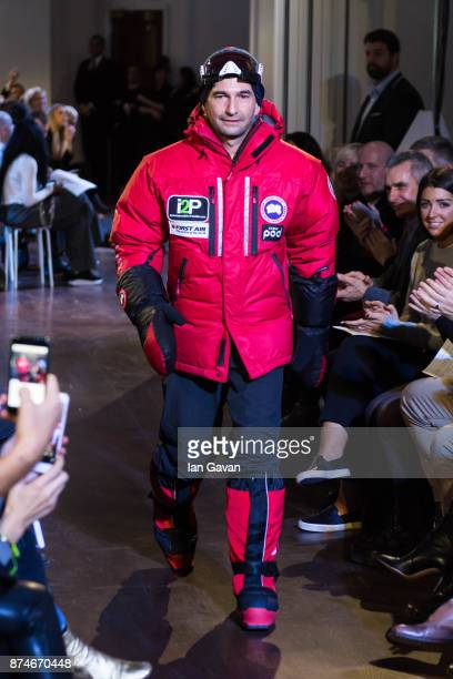 Ray Zahab walks the runway during the Canada Goose x London Celebrating London Flagship Opening and 60th Anniversary event on November 15 2017 in...