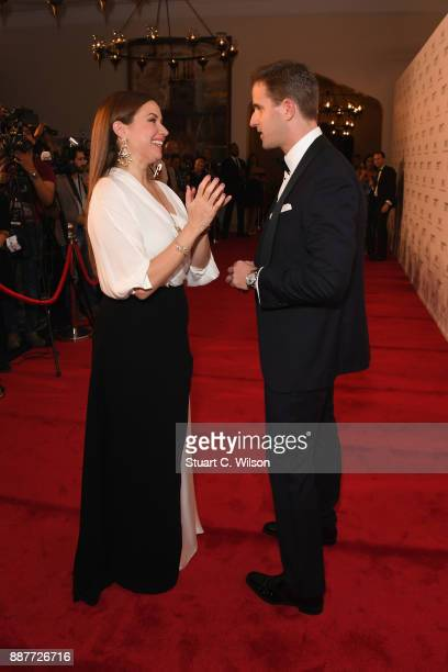 Raya Abirached and Christoph Grainger attend the sixth IWC Filmmaker Award gala dinner at the 14th Dubai International Film Festival during which...