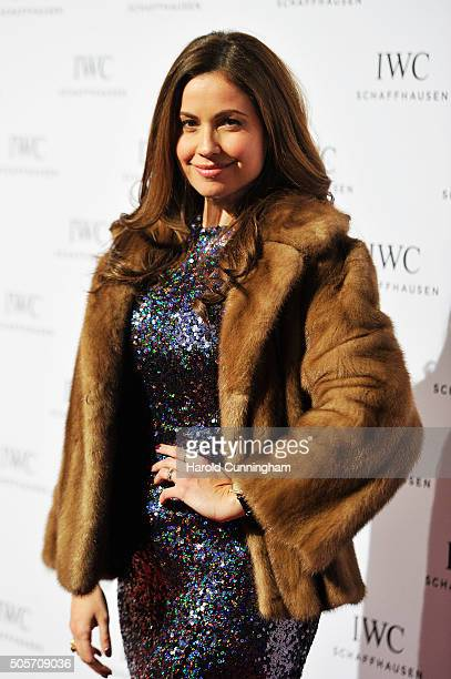Raya Abirached attends the IWC 'Come Fly With Us' Gala Dinner during the launch of the Pilot's Watches Novelties from the Swiss luxury watch...