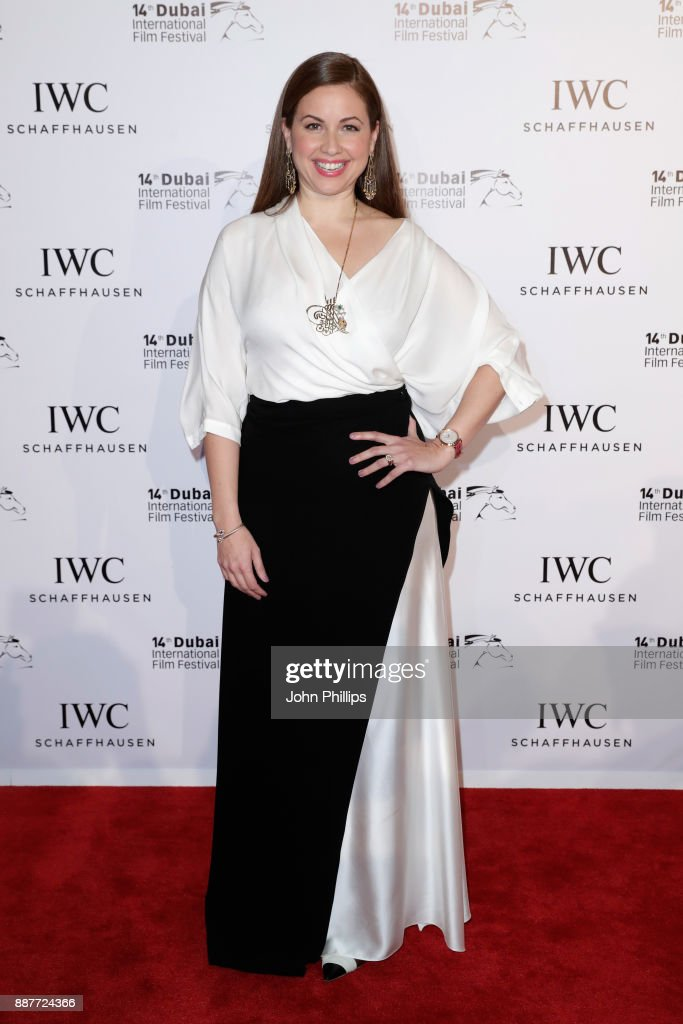 Raya Abirached attends the sixth IWC Filmmaker Award gala dinner at the 14th Dubai International Film Festival (DIFF), during which Swiss luxury watch manufacturer IWC Schaffhausen celebrated its long-standing passion for filmmaking at One And Only Royal Mirageon December 7, 2017 in Dubai, United Arab Emirates.