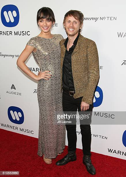 Rayana Ragan and Dominic Howard attend Warner Music Group's annual Grammy celebration at Milk Studios Los Angeles on February 15 2016 in Los Angeles...