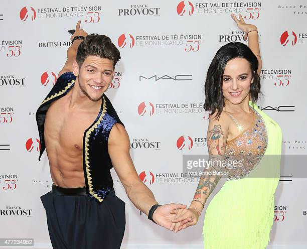 Rayane Bensetti and Alizee perform for Dance Avec Les Stars at the Grimaldi Forum on June 14 2015 in MonteCarlo Monaco