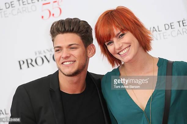 Rayane Bensetti and Fauve Hautot attend the 55th Monte Carlo TV Festival Opening Ceremony at the Grimaldi Forum on June 13 2015 in MonteCarlo Monaco