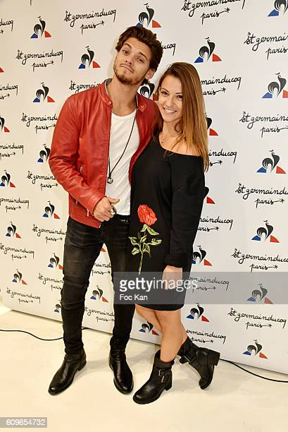 Rayane Bensetti and Melissa Denitsa from Danse avec Les Stars attend the Coq Sportif Boutique Opening Party on September 21 2016 in Paris France