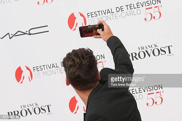 Rayane Bensetti attends the 55th Monte Carlo TV Festival Opening Ceremony at the Grimaldi Forum on June 13 2015 in MonteCarlo Monaco