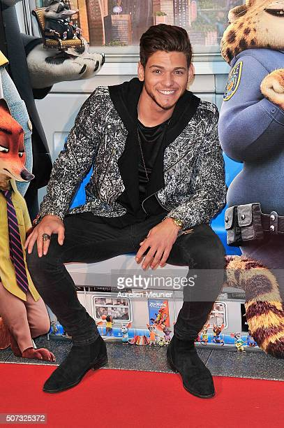 Rayane Bensetti attends the 'Zootopie' Paris premiere at Gaumont Champs Elysees on January 28 2016 in Paris France