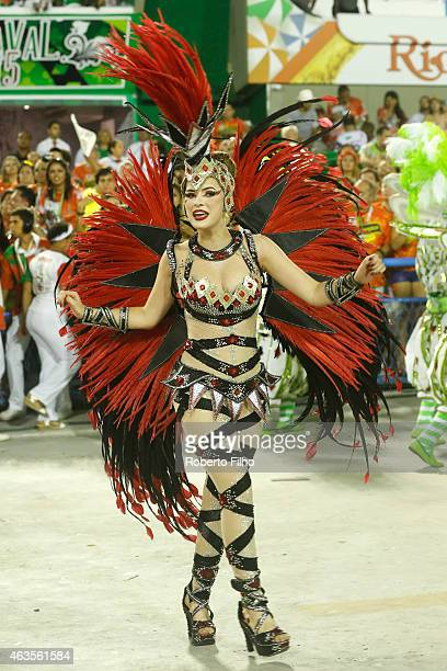 Rayanne Morais participates in the parade on the Sambodromo during Rio Carnival on February 15 2015 in Rio de Janeiro Brazil