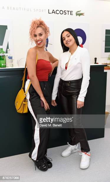 Raye and Mabel McVey attend Lacoste VIP Lounge at the 2017 ATP World Tour Tennis Finals on November 19 2017 in London United Kingdom