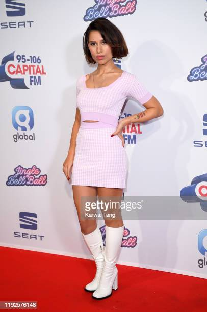 Raye attends Capital's Jingle Bell Ball 2019 at The O2 Arena on December 07 2019 in London England