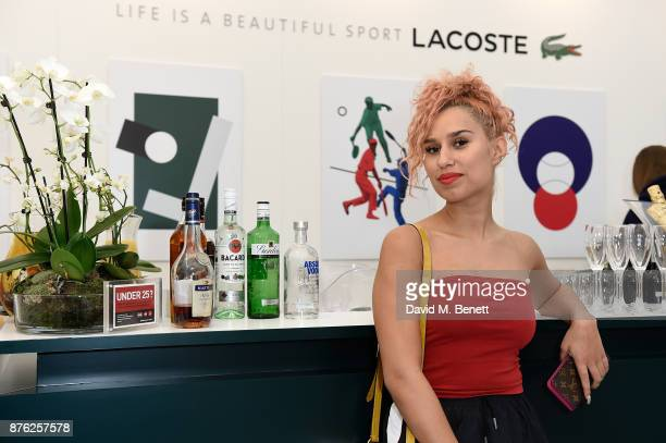 Raye attends Lacoste VIP Lounge at the 2017 ATP World Tour Tennis Finals on November 19 2017 in London United Kingdom