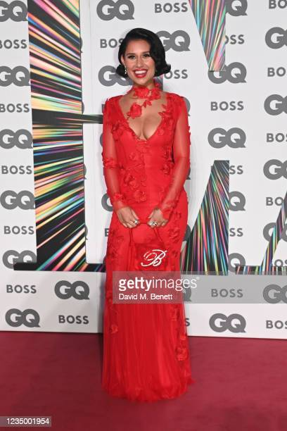 Raye attends the 24th GQ Men of the Year Awards in association with BOSS at Tate Modern on September 1, 2021 in London, England.