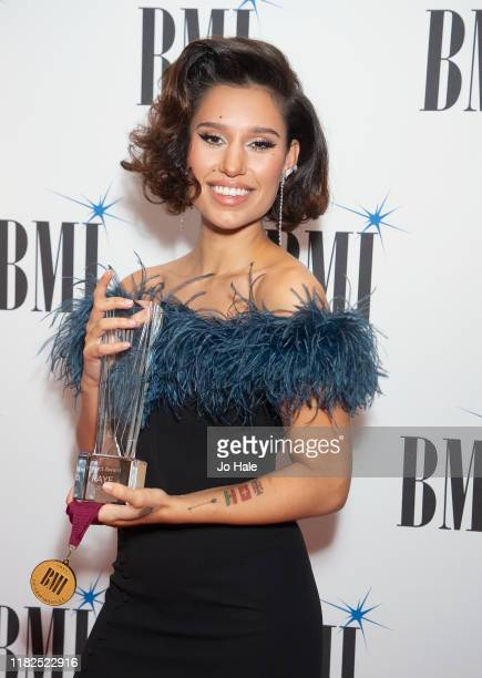 Raye attends the BMI Awards 2019 at The Savoy Hotel on October 21 2019 in London England