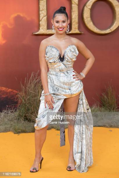 Raye attends The Lion King European Premiere at Leicester Square on July 14 2019 in London England