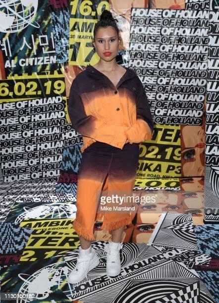 Raye during London Fashion Week February 2019 on February 16 2019 in London England