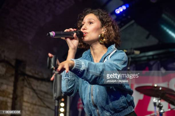 Raye performs during the 10 year anniversary of CoppaFeel FestiFeel 2019 at House of Vans on October 12 2019 in London England