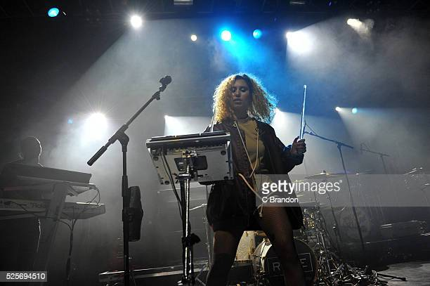 Raye performs on stage at the O2 Forum Kentish Town on April 28 2016 in London England