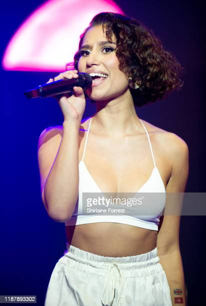 Raye performs on stage during Hits Radio Live 2019 at MS Bank Arena on November 15 2019 in Liverpool England