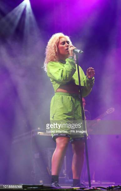 Raye performs on stage on day two of the brand new Rize Festival in Hylands Park, Chelmsford, Essex.